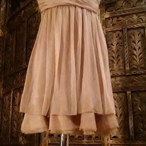 BCBGMaxAzria Dresses - Tan / cream colored dress, size 6